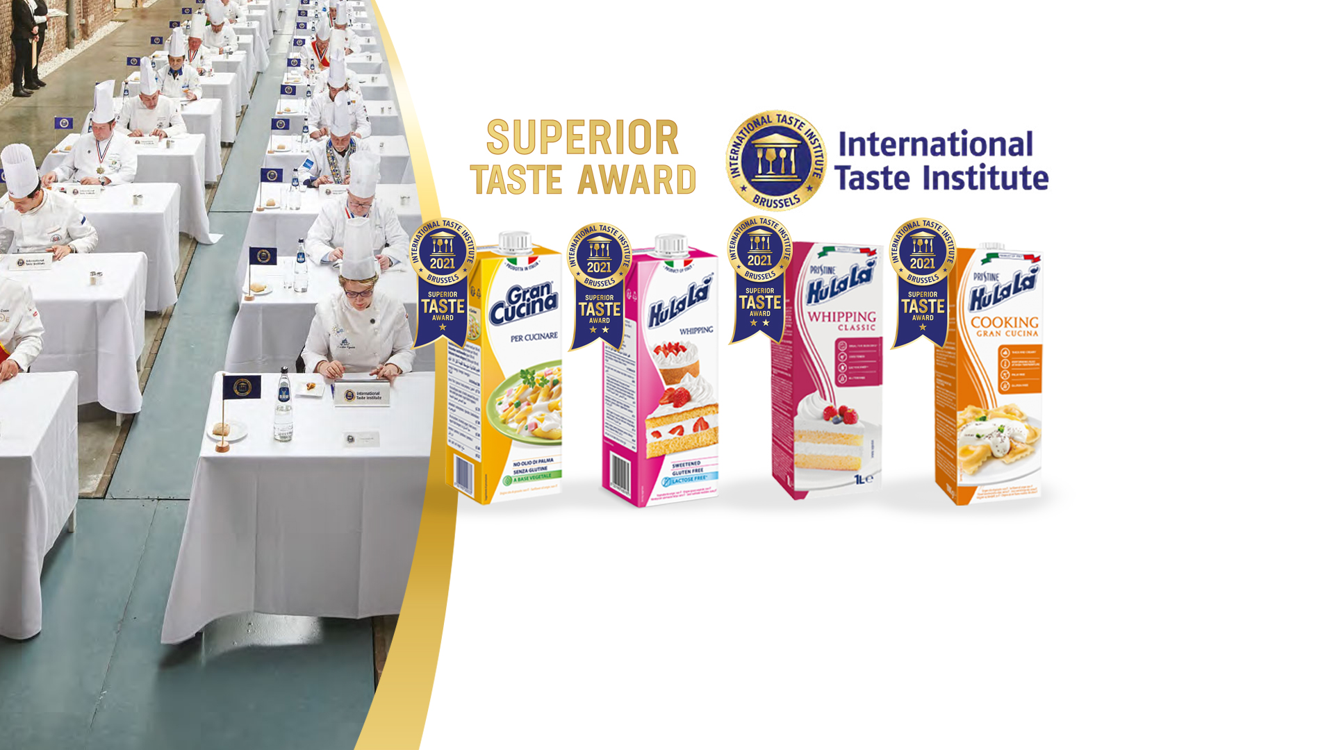 Gran Cucina and Hulalà creams awarded by International Taste Institute
