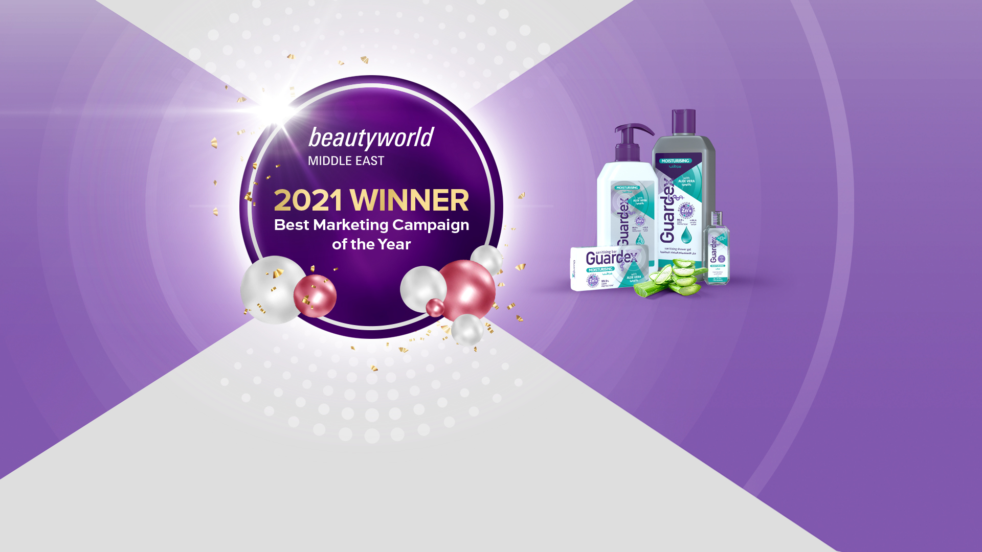 Guardex wins Best Marketing campaign of the year at the Beauty World Middle East Awards